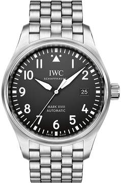 IWC Pilot's Mark XVIII stainless steel watch