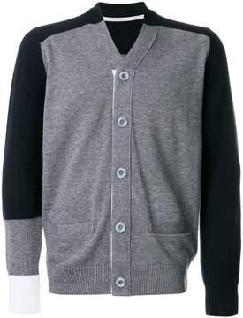 Sacai colour block cardigan