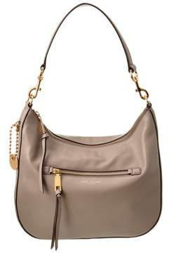 Marc Jacobs Recruit Leather Hobo. - KHAKI - STYLE