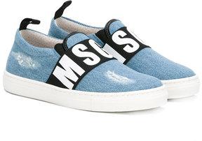 MSGM denim slip-on sneakers