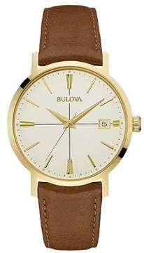 Bulova Aerojet Leather Mens Watch 97B151