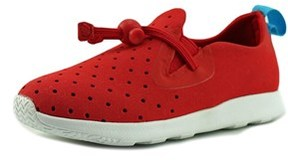 Native Apollo Moc Toddler Round Toe Canvas Red Sneakers.