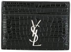 Saint Laurent Monogram card case - BLACK - STYLE