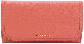 Burberry logo plaque wallet - PINK & PURPLE - STYLE