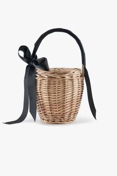 Wicker Bucket Bag