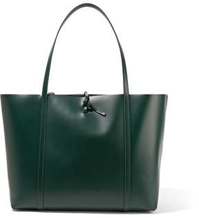 KARA - Tie Leather Tote - Emerald