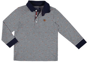 Mayoral Long-Sleeve Puppy Polo, Size 3-7