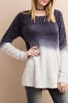 Easel Fuzzy Deep Dye Sweater