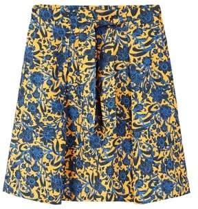 MANGO Printed boards skirt