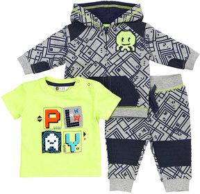 Petit Lem Play Three-Piece Outfit Set, Blue, Size 3-24 Months