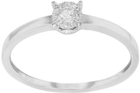 Damiani Bliss 18K White Gold & 0.10 ct Diamonds Engagement Ring