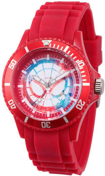 Marvel Classic Mens Red Strap Watch-Wma000064