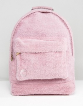 Mi-Pac Limited Edition Classic Backpack in Pink Faux Fur
