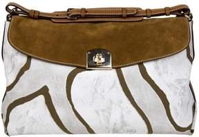 Sergio Rossi Camel Cotton Handbag