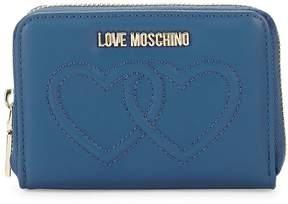 Love Moschino Women's Heart Zip-Around Wallet