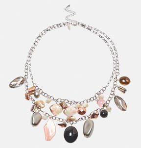 Avenue Mixed Bead Blush Shaker Necklace