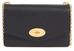 Mulberry 'Postman'S Lock' Leather Crossbody Clutch - Black