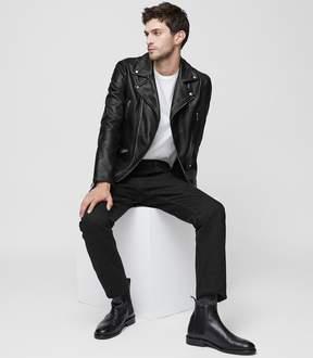 Reiss Bones Leather Biker Jacket