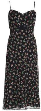 Bailey 44 Cutout Floral-Print Chiffon Midi Dress