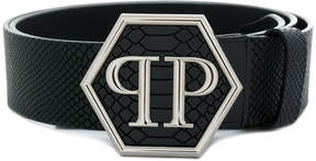 Philipp Plein large logo buckle belt