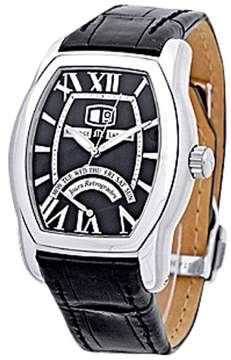 Maurice Lacroix Jours Retrograde Tonneau Stainless Steel Strap Mens Watch