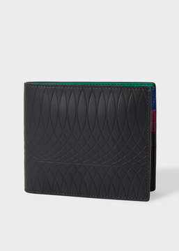 Paul Smith No.9 - Black Leather Billfold Wallet With Multi-Coloured Interior