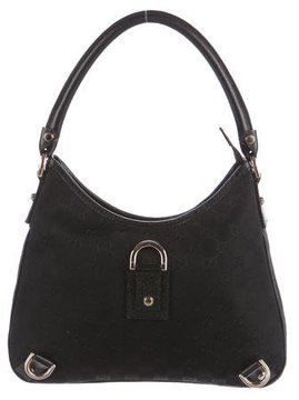 Gucci GG Canvas Abbey Hobo - BLACK - STYLE