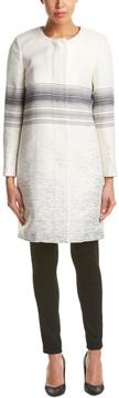 Ecru Wool-Blend Coat