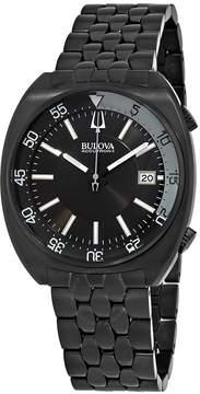 Bulova Accutron II Black Dial Black Ion-plated Men's Watch