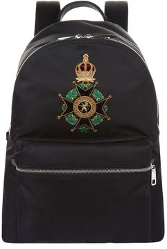 Dolce & Gabbana Embroidered Coat Of Arms Backpack