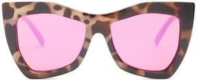 Le Specs Kick It oversized mirrored sunglasses