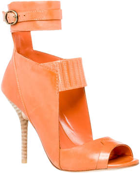 Max Studio essay : waxed leather ankle wrap cut out sandals