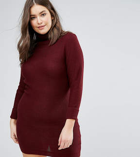 Brave Soul Plus Turtleneck Sweater Dress