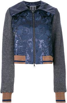 Aviu floral and rib detailed bomber jacket