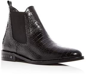 Freda Salvador Women's Sleek Croc-Embossed Leather Chelsea Booties