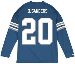 Mitchell & Ness Men's Barry Sanders Detroit Lions Retro Player Name & Numer Longsleeve T-Shirt