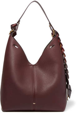 Anya Hindmarch - Bucket Small Textured-leather Tote - Burgundy