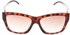 Jimmy Choo Tortoiseshell Logo Sunglasses