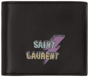 Saint Laurent Black Lightning East West Wallet