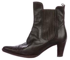 Henry Beguelin Leather Pointed-Toe Booties