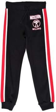 Moschino Cotton Sweatpants W/ Side Bands