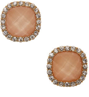 Carole Peach Crystal Halo Stud Earrings