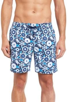 Mr.Swim Men's Floral Print Swim Trunks