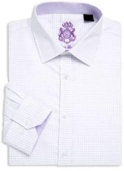 English Laundry Windowpane Cotton Dress Shirt