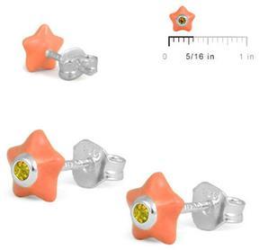 Ice Girls' Sterling Silver Enamel Star Stud Earrings