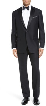 Hart Schaffner Marx Men's New York Classic Fit Black Wool Tuxedo
