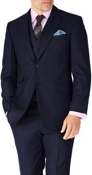 Charles Tyrwhitt Navy Classic Fit British Serge Luxury Suit Wool Jacket Size 38