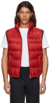 Prada Red Down Puffer Vest