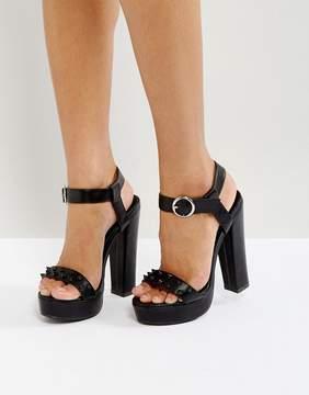 Glamorous Stud Platform Heeled Sandals