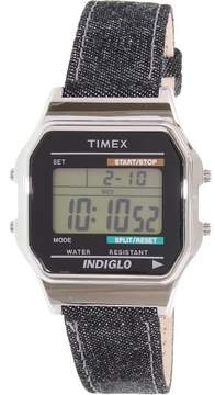 Timex Men's Heritage TW2P77100 Blue Leather Quartz Dress Watch